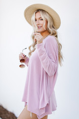 Swing Top in Blush Side View