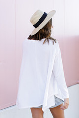 Swing Top in Ivory Back View
