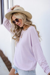 Pullover in Lilac Side View