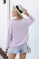 Pullover in Lilac Back View