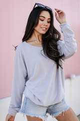 Pullover in Grey Side View