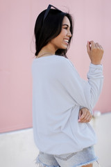 Pullover in Light Blue Back View