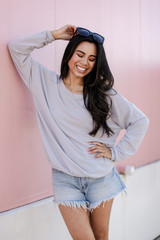 Grey - Dress Up model wearing a Pullover