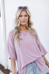 Blush - Terry Tee Front View