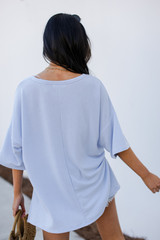 Terry Tee in Light Blue Back View