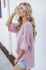 Terry Tee in Blush Side View