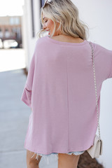 Terry Tee in Blush Back View