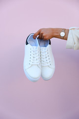 Platform Sneakers on a white background