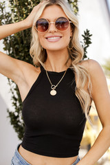 Black - High Neck Tank from Dress Up
