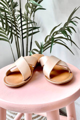 Natural - Pebble Slide Sandals from Dress Up  by MATISSE FOOTWEAR