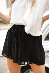 Black - Linen Shorts from Dress Up