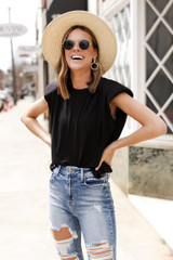Black - Shoulder Pad Muscle Tee from Dress Up