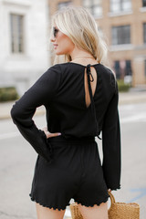 Ribbed Romper from Dress Up Back View