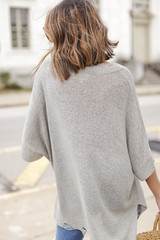 Oversized Summer Knit Back View