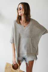 Oversized Summer Knit Front View