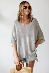 Model wearing an Oversized Summer Knit Front View
