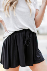 Black - Jersey Knit Shorts