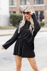 Black - Jersey Knit Shorts from Dress Up