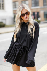 Black - Jersey Knit Hoodie from Dress Up