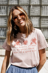 Blush - Good Heart Floral Graphic Tee