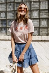 Blush - Good Heart Floral Graphic Tee from Dress Up