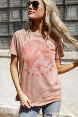 Peach - Adventure Vintage Washed Graphic Tee