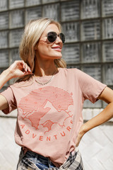 Adventure Vintage Washed Graphic Tee Front View