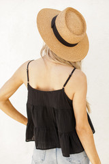 Babydoll Tank in Black Back View