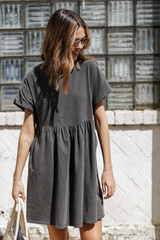 Vintage Washed Cotton Dress Front View