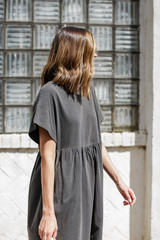 Vintage Washed Cotton Dress Side View