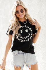 Dress Up model wearing a Flower Child Graphic Tee