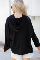 Relaxed Hoodie in Black Back View