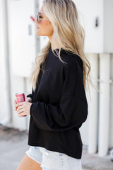 Relaxed Hoodie in Black Side View