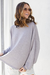 Heather Grey - Relaxed Hoodie