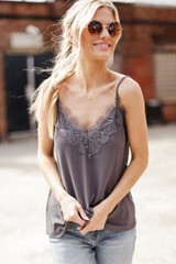Layering Lace Tank Front View
