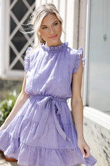 Periwinkle - Ruffled Tiered Mini Dress from Dress Up