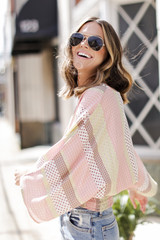 Blush - Smocked Floral Top Side View
