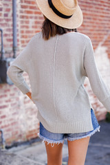 Feel The Breeze Knit in Sage Back View
