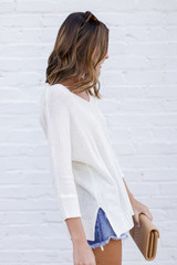 Feel The Breeze Knit in Ivory Side View