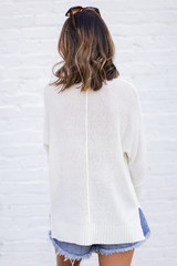 Feel The Breeze Knit in Ivory Back View