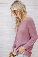 Feel The Breeze Knit in Lavender Side View