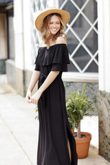 Model wearing an Off-the-Shoulder Maxi Dress