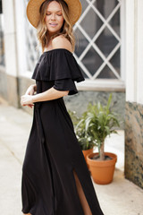 Off-the-Shoulder Maxi Dress Side View
