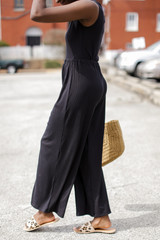 Ribbed Wide Leg Pants Side View