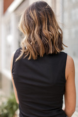 Ribbed Cropped Tank Back View