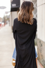 Ribbed Cardigan Back View