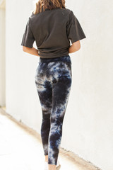 High-Waisted Ribbed Leggings Back View
