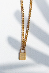 Gold - Chain Lock Necklace from Dress Up