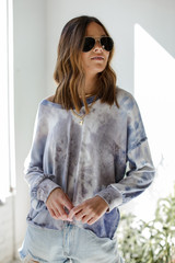 Blue - Tie-Dye Pullover from Dress Up