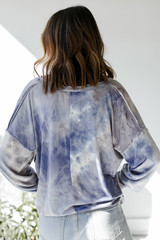 Tie-Dye Pullover Back View